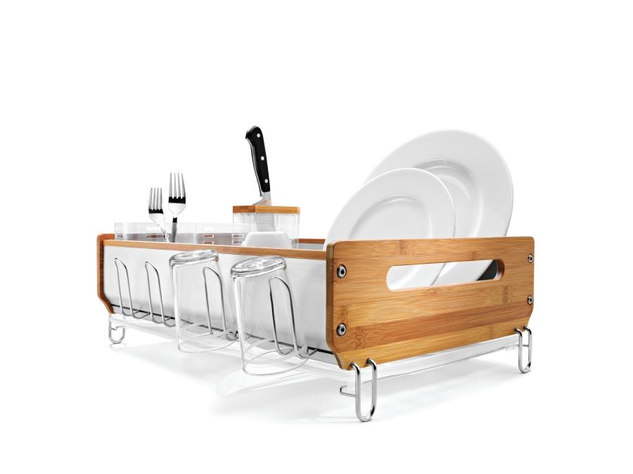simple human egouttoir vaisselle avec encadrement bambou 53 x 42 x 23cm kt1143 achetez. Black Bedroom Furniture Sets. Home Design Ideas