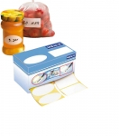 Etiquettes adhesives duo (2 formes differentes) + marqueur 14 x 7 x 6.9cm