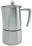 Cafetiere Torino inox brosse induction 6 tasses