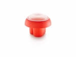 Cuit oeuf OVO forme cour rouge orange et transparent / Kit de 2 cuits oufs