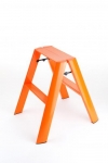 Tabouret Escabeau orange en aluminium 2 marches