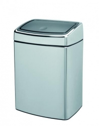 Poubelle 'touch bin' 10 L chrome brillant