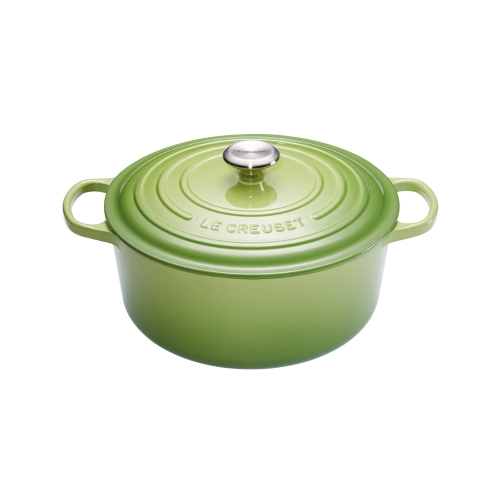 le creuset cocotte signature en fonte maill e ronde 26 cm vert palm 21177264262430. Black Bedroom Furniture Sets. Home Design Ideas