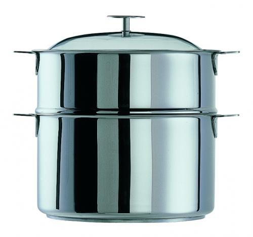 Cristel cuit vapeur ovale 30 cm inox avec 1 panier - Panier cuit vapeur inox ...