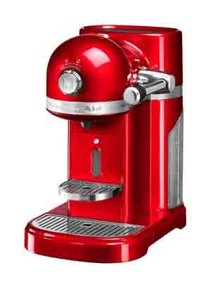Machine à café Kitchenaid Nespresso rouge empire 5KES0503EER/5