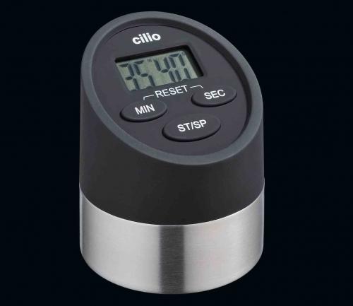 cilio minuteur noir 2 fonctions chronom tre et minuteur digital cilio 294903 294903. Black Bedroom Furniture Sets. Home Design Ideas
