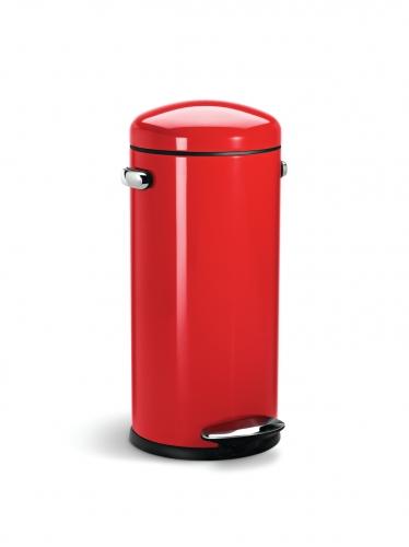 simple human poubelle r tro p dale 30l rouge. Black Bedroom Furniture Sets. Home Design Ideas