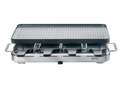 Kuchenprofi Raclette Grill ~ spring raclette 8 personnes grill chromé spring 3267510001 3267510001 achetez au meilleur
