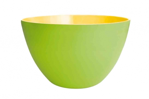 Zak saladier duo 22 cm vert ext rieur jaune for Table exterieur jaune