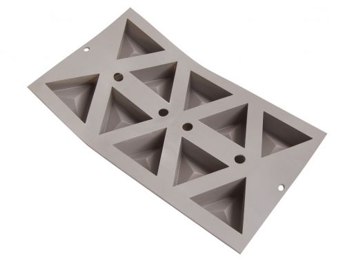 Elastomoule 10 triangles 30 x 17,6 cm (66 mm x 57 mm x H 3.5 mm - 5.6 cl)