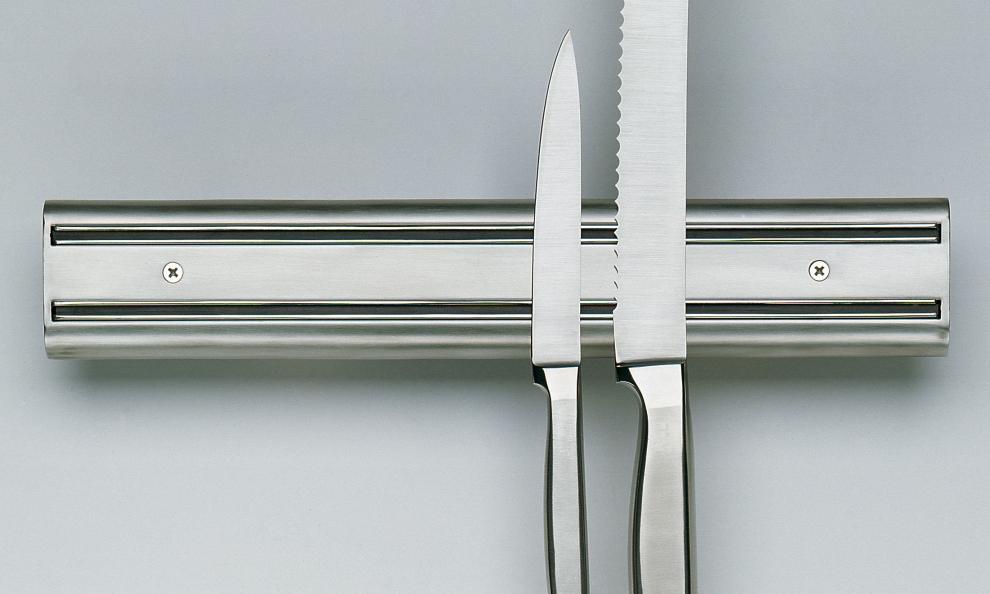 Kuchenprofi barre en inox magn tique pour couteaux k chenprofi 35 5 cm x 6 cm de hauteur - Barre aimantee pour couteaux ...