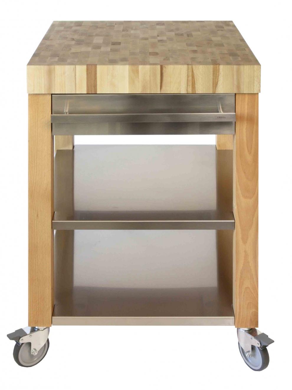 cristel billot de cuisine cookmobil tiroir tag re inox plan bois debout 60 x 60 x 90. Black Bedroom Furniture Sets. Home Design Ideas