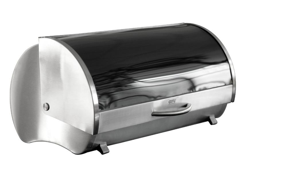 gefu boite pain en inox et verre securit 41 5 x 25 x 21 cm 33600 33600 achetez au. Black Bedroom Furniture Sets. Home Design Ideas