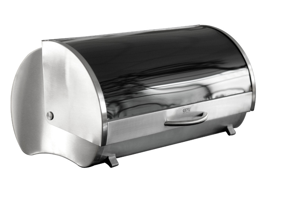 Gefu boite pain en inox et verre securit ge33600 ge33600 achetez au m - Boite a pain en inox ...