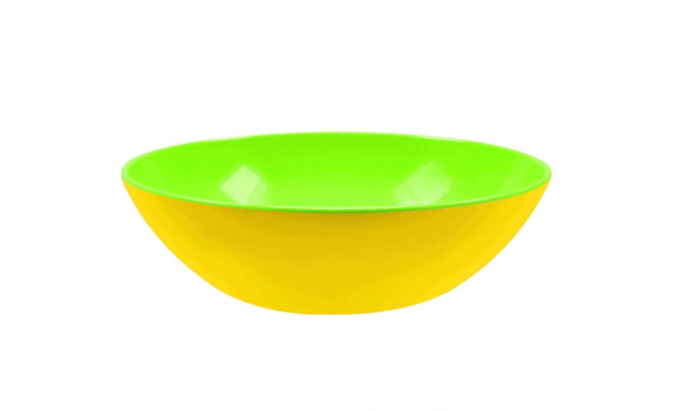 Zak bol servir duo 24 cm vert int rieur jaune for Table exterieur jaune