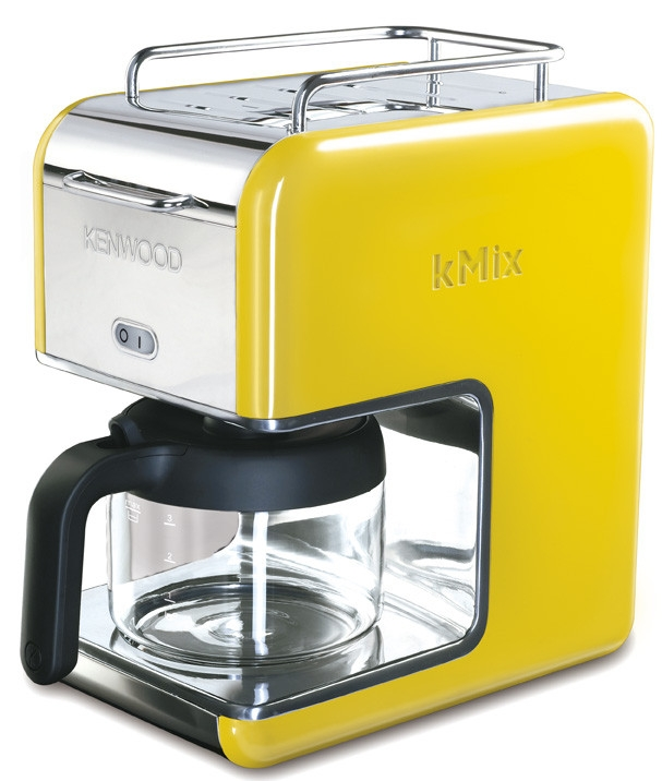 kenwood cafeti re filtre 8 tasses kenwood kmix jaune cm028 cm028 achetez au meilleur prix. Black Bedroom Furniture Sets. Home Design Ideas