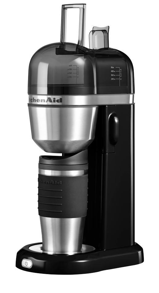 kitchenaid cafeti re individuelle noir onyx avec mug isotherme 5kcm0402eob 5kcm0402eob. Black Bedroom Furniture Sets. Home Design Ideas