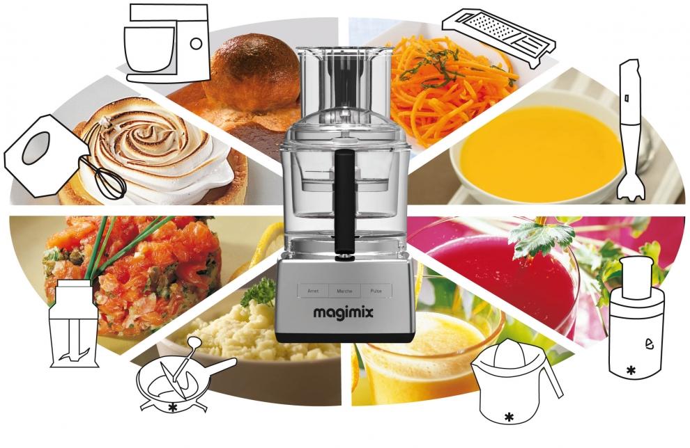 Magimix coffret premium magimix robot 5200 xl chrom for Cuisine 5200 magimix
