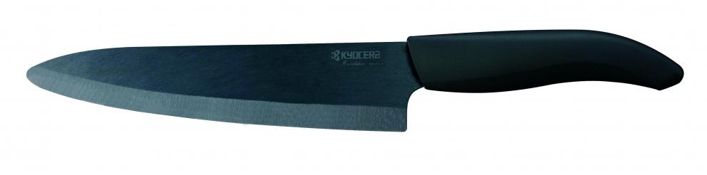 kyocera couteau du chef shin lame noire manche noir 18cm zk 180bk bk zk 180bk bk achetez. Black Bedroom Furniture Sets. Home Design Ideas