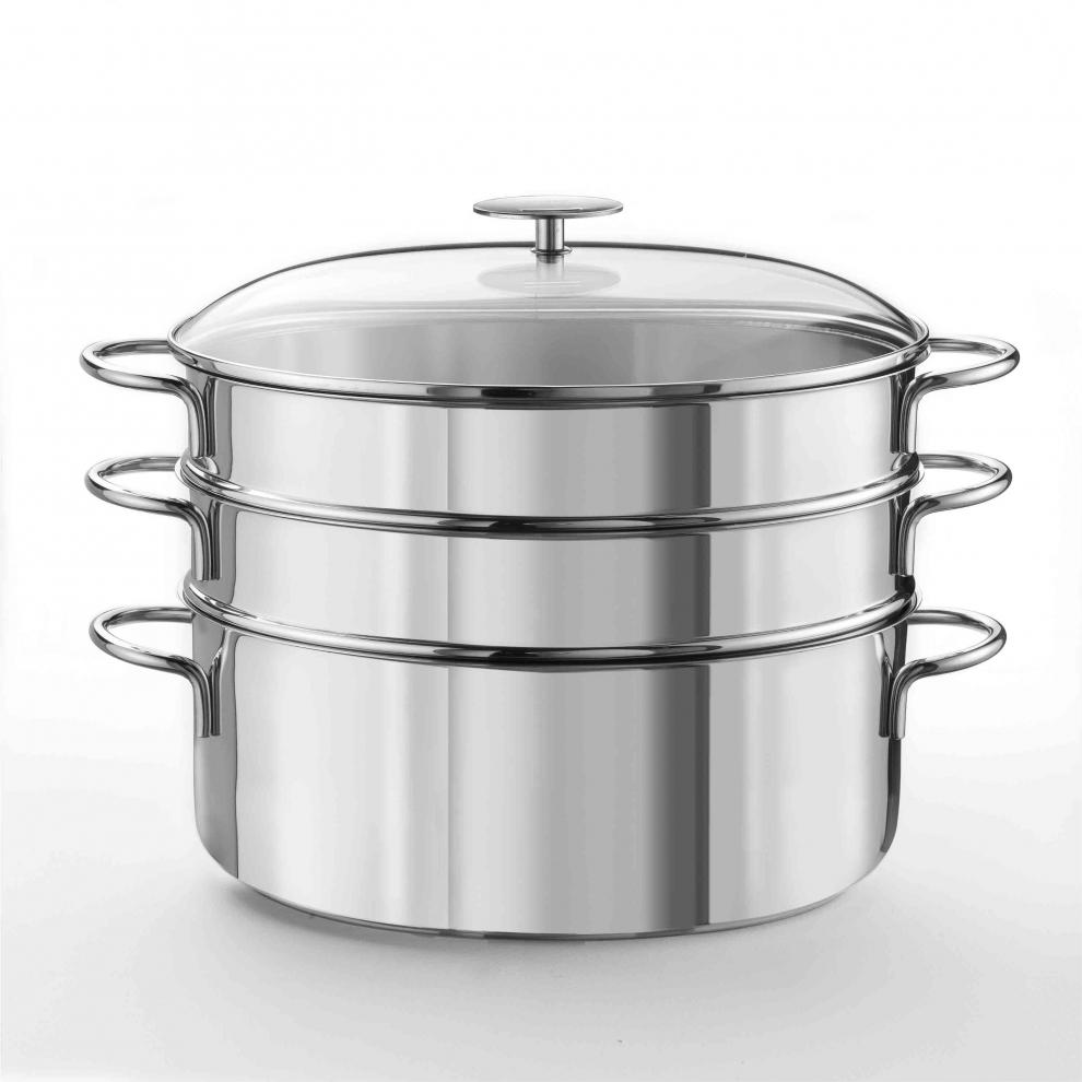 cuit vapeur ovale 30 cm inox avec 2 paniers perfor s cvov302em cvov302em cristel avis et