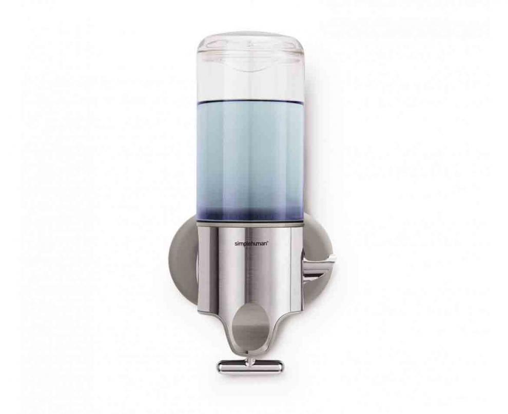 Simple human distributeur de savon pompe mural en inox for Distributeur savon mural inox