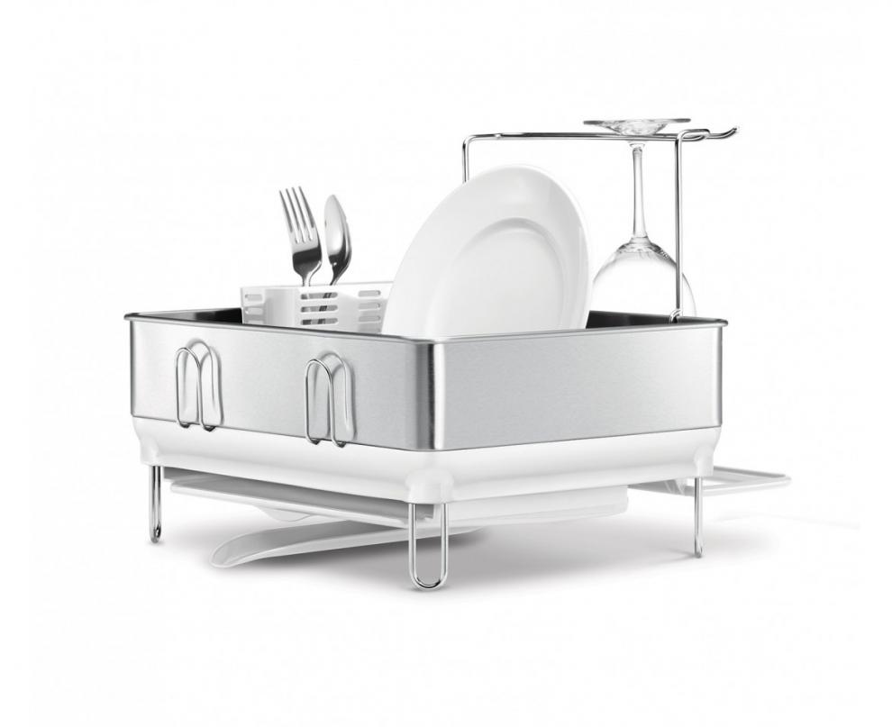 simple human egouttoir vaisselles cadre en acier porte verres vin amovible 38x43x34 cm. Black Bedroom Furniture Sets. Home Design Ideas