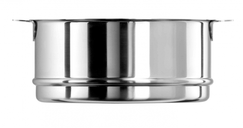 Cristel el ment cuit vapeur 26 cm inox mutine amovible - Panier cuit vapeur inox ...