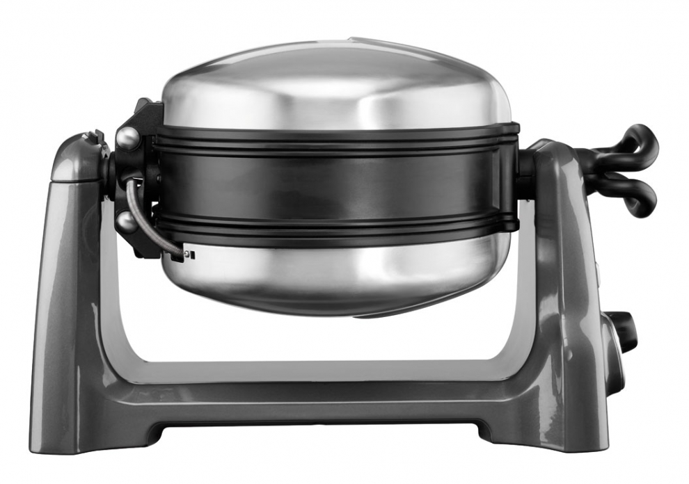KITCHENAID - Gaufrier KitchenAid Artisan Pro gris étain 5KWB110EMS ...