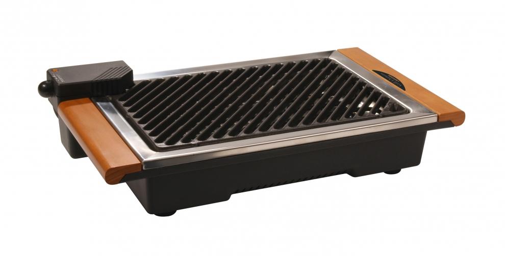 lagrange grill fonte l ctrique 4 saisons avec bac eau pour viter odeurs fum es 239001. Black Bedroom Furniture Sets. Home Design Ideas