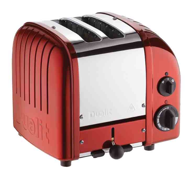 Grille Pain Dualit Classic 1 200w 2 Fentes Rouge