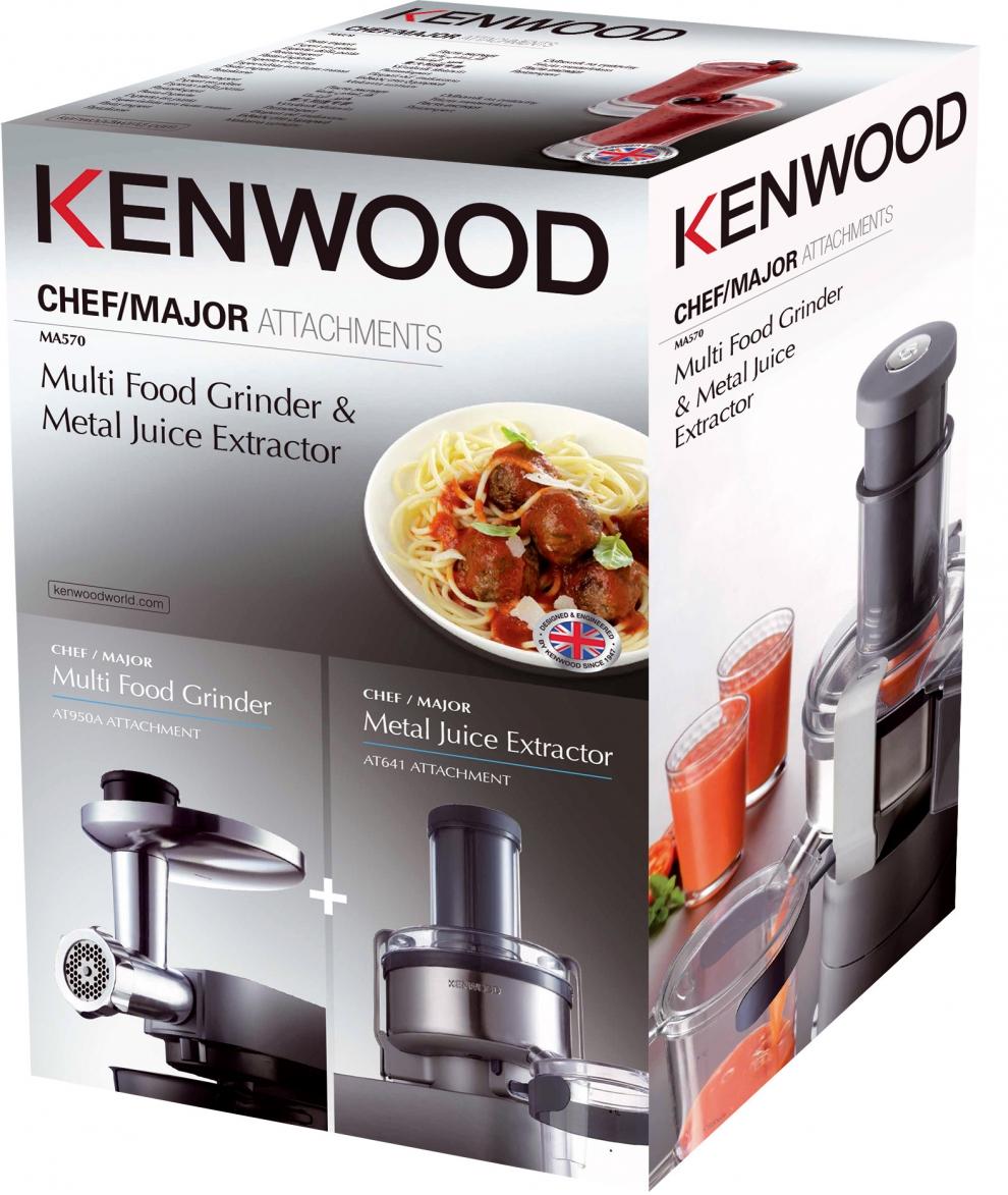 qualité-supérieure haut de gamme authentique vraie qualité Kit 2 accessoires : hachoir & centrifugeuse pour Robot Kenwood Chef & Major  MA570