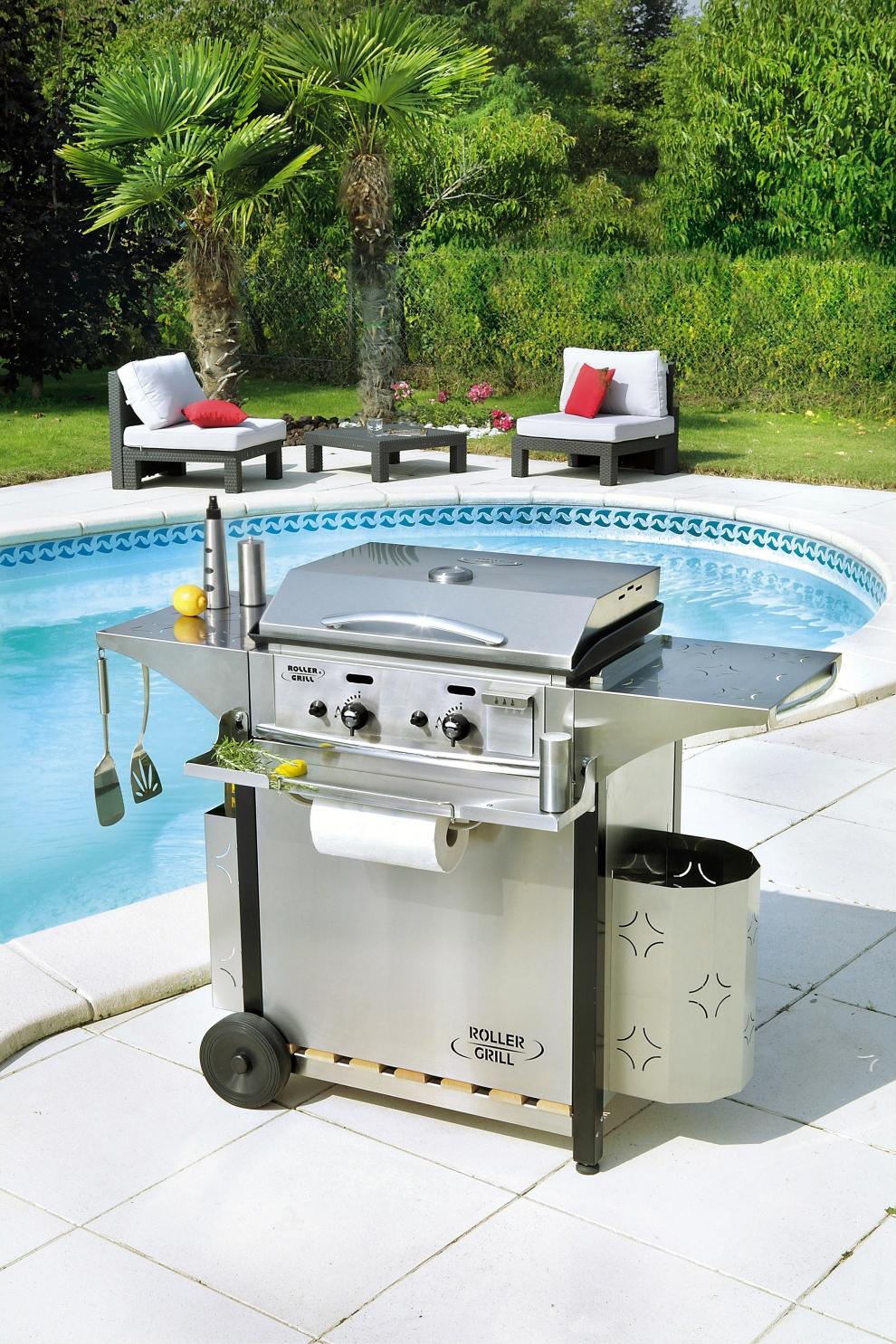 Roller grill kit de cuisine ext rieur premium 8 pi ces - Plancha de cuisine ...