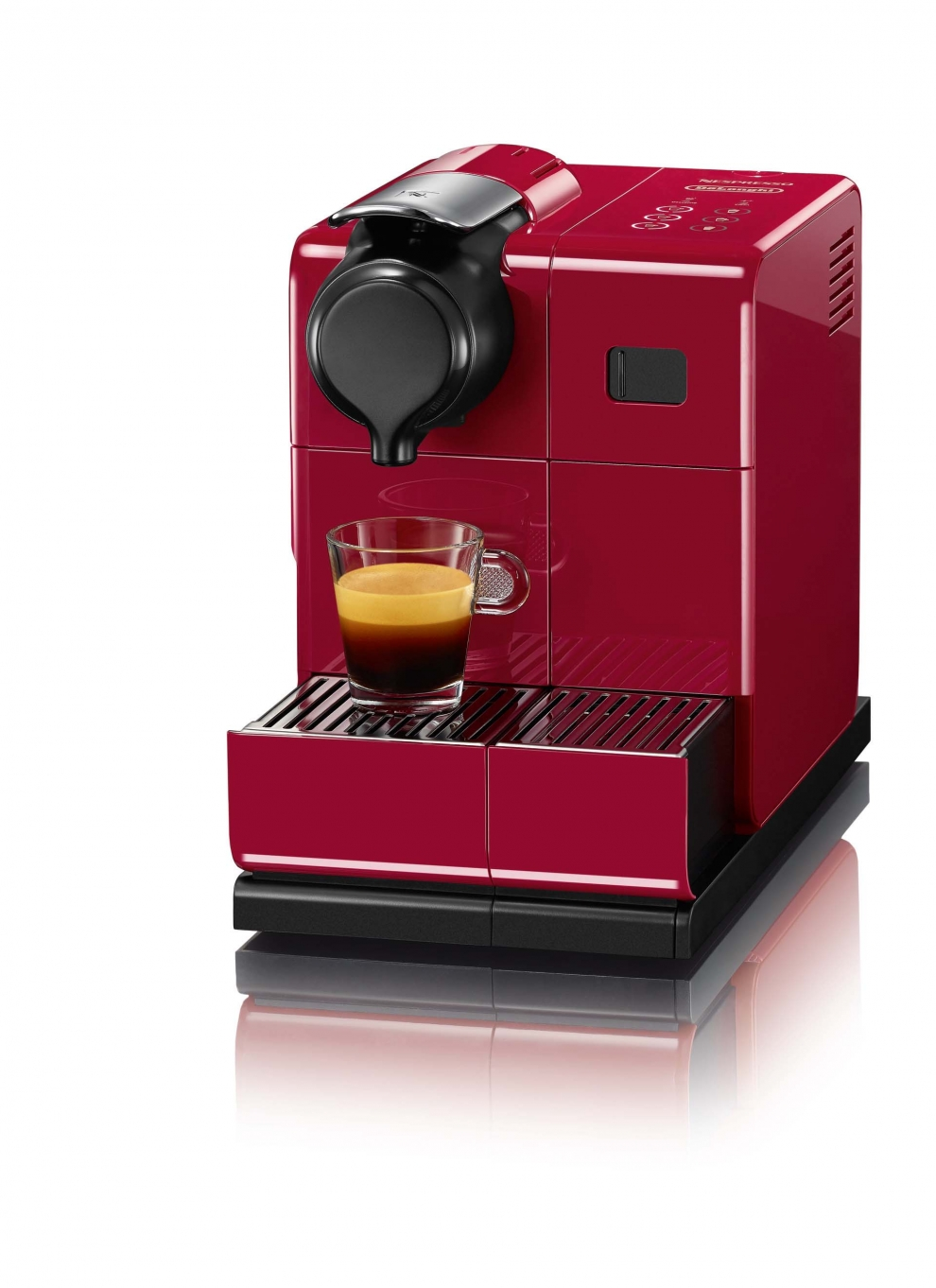 Delonghi machine caf capsules nespresso delonghi lattissima touch rouge en550 r en550 r - Machine a cafe delonghi prix ...