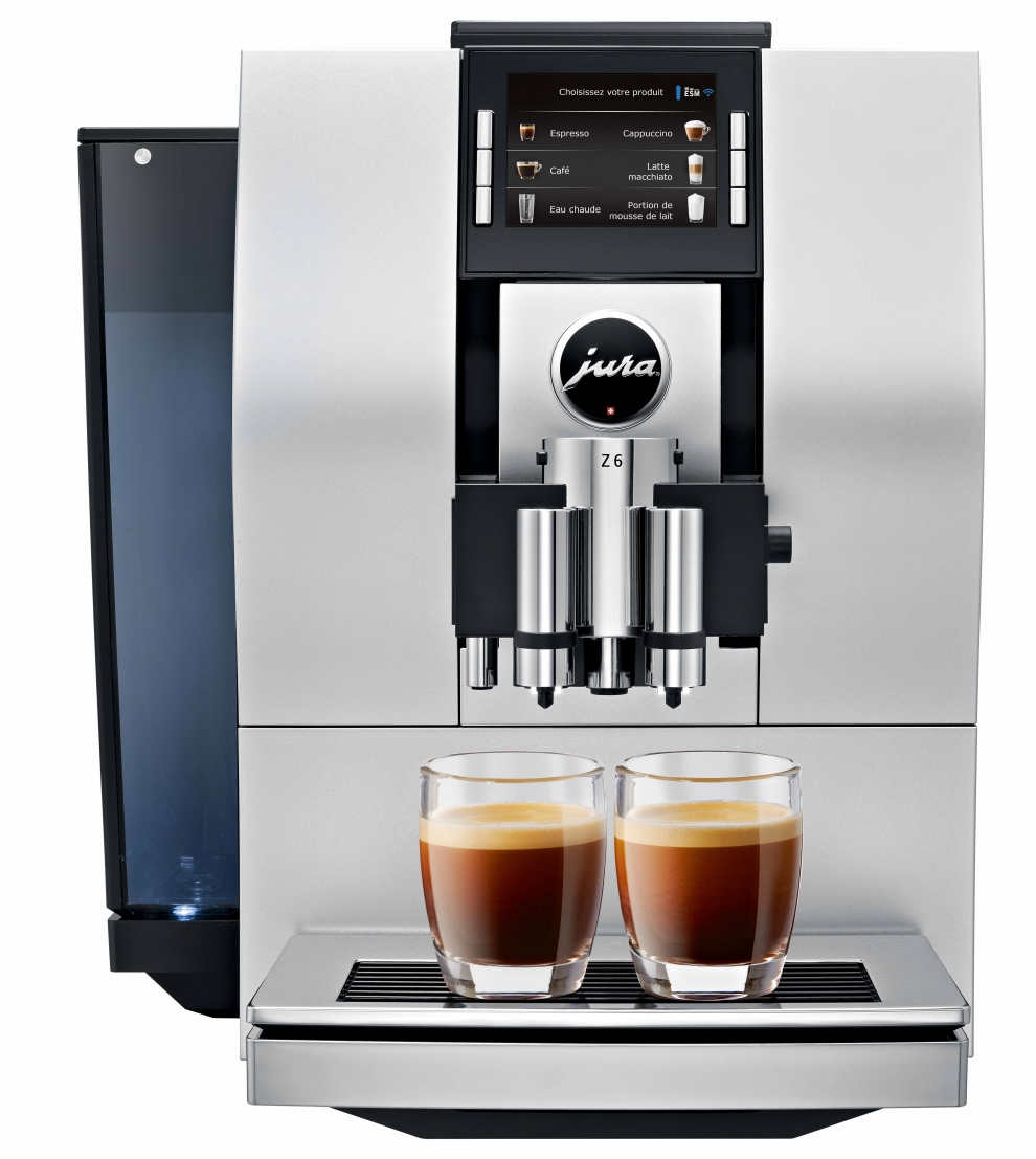 Jura machine caf automatique avec broyeur z6 argent satin 15011 ach - Prix machine a cafe jura ...