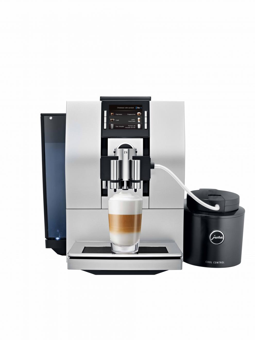 jura machine caf automatique avec broyeur z6 argent. Black Bedroom Furniture Sets. Home Design Ideas