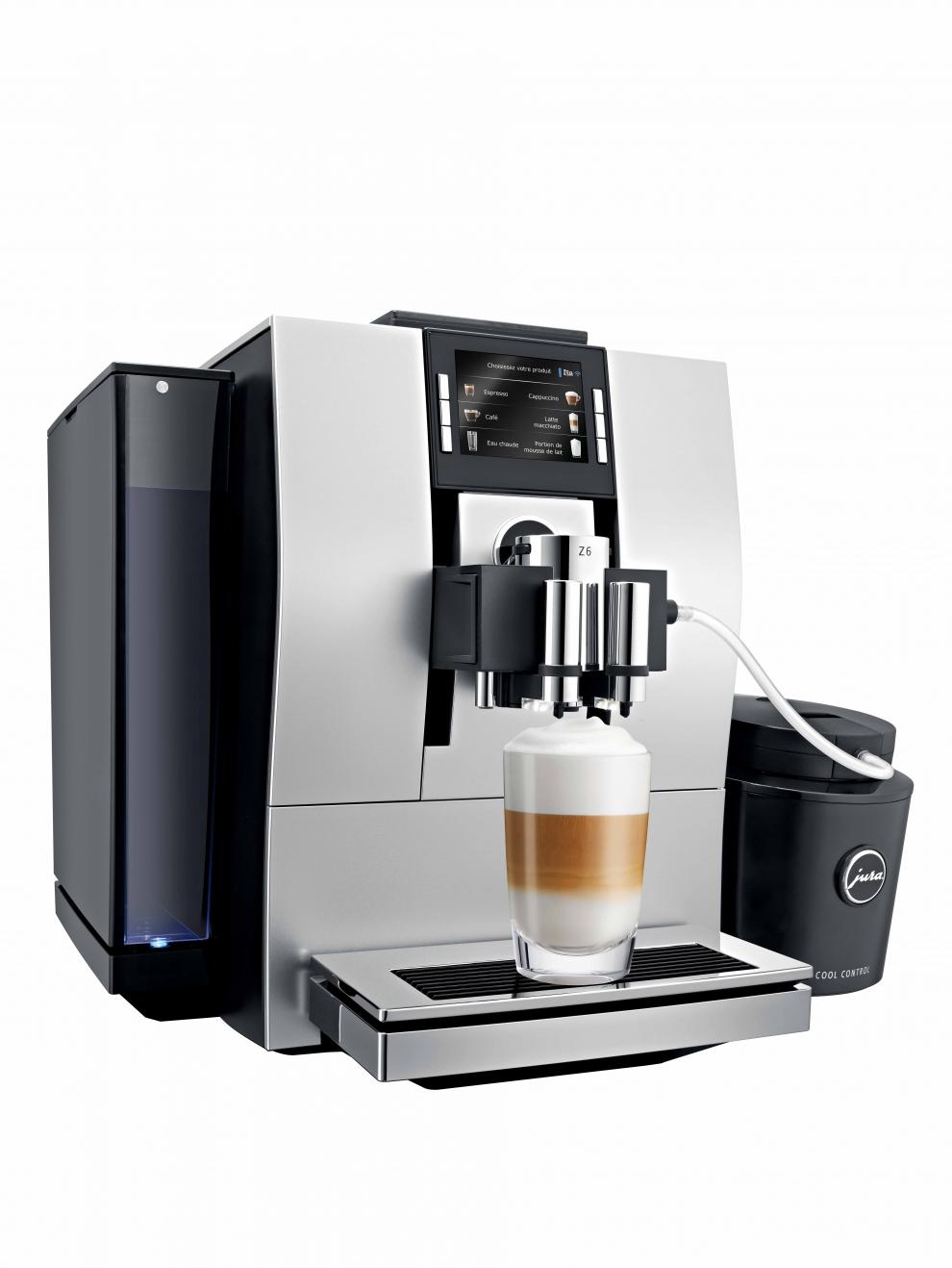 jura machine caf automatique avec broyeur z6 argent satin 15011 15011 achetez au. Black Bedroom Furniture Sets. Home Design Ideas