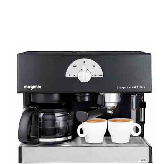 magimix machine expresso filtre noire magimix pour espresso et caf filtre 11422 11422. Black Bedroom Furniture Sets. Home Design Ideas