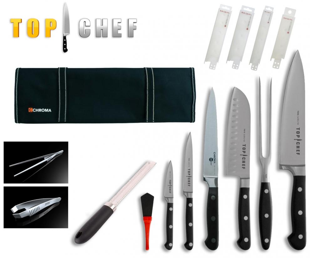 chroma mallette compl te de couteaux top chef 14 pi ces