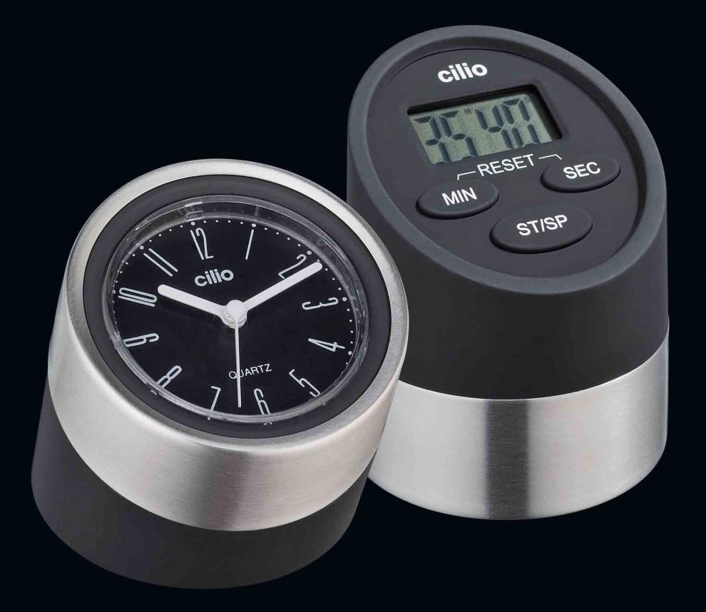Cilio minuteur noir 2 fonctions chronom tre et - Chronometre et minuteur ...