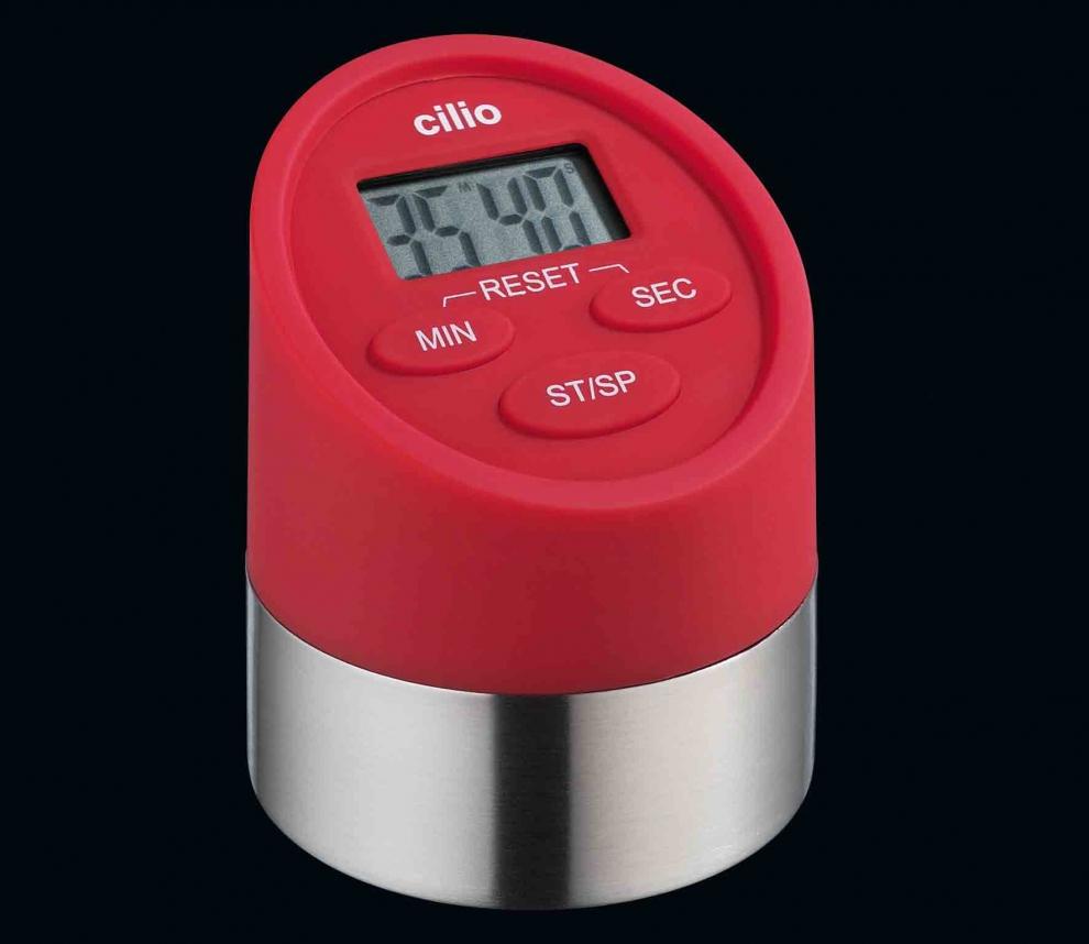 cilio minuteur rouge 2 fonctions chronom tre et minuteur digital cilio 294897 294897. Black Bedroom Furniture Sets. Home Design Ideas