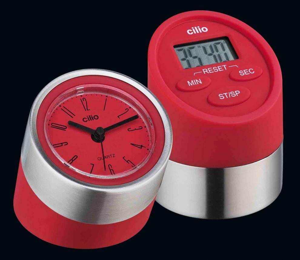 Cilio minuteur rouge 2 fonctions chronom tre et - Chronometre et minuteur ...