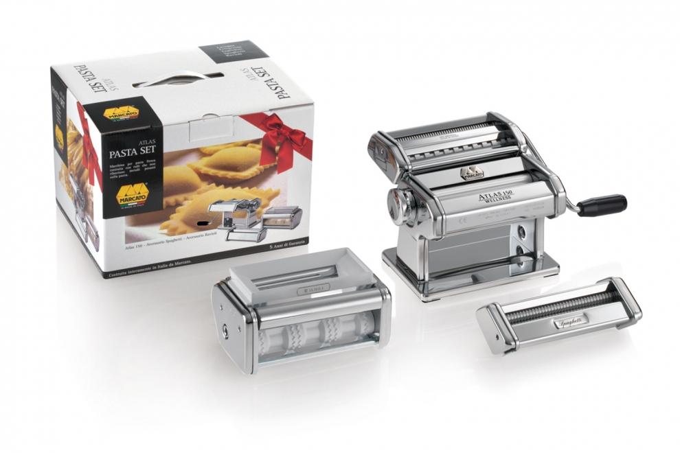 MARCATO - Kit Pastaset avec machine à pâtes manuelle Atlas 150 ...