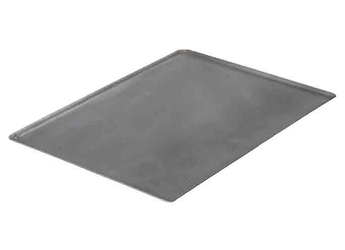 de buyer plaque t le d 39 acier noire bord pinc de buyer rectangulaire 40 x 30cm. Black Bedroom Furniture Sets. Home Design Ideas