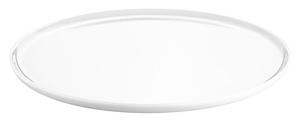 plat tarte ou pizza 36 cm plat en porcelaine blanche de. Black Bedroom Furniture Sets. Home Design Ideas