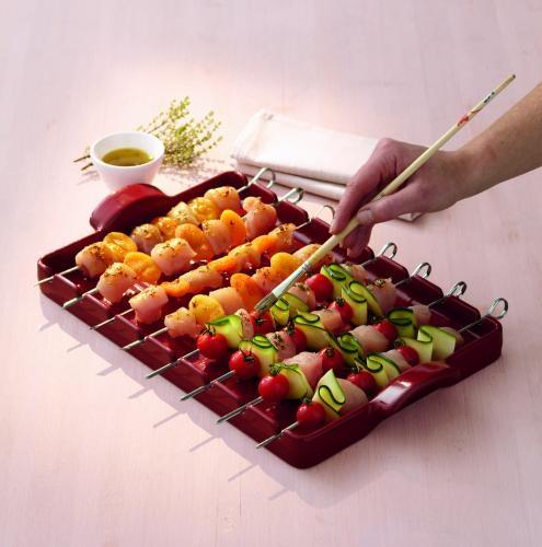 emile henry plat grill barbecue rouge grenade 42 x 25 cm. Black Bedroom Furniture Sets. Home Design Ideas