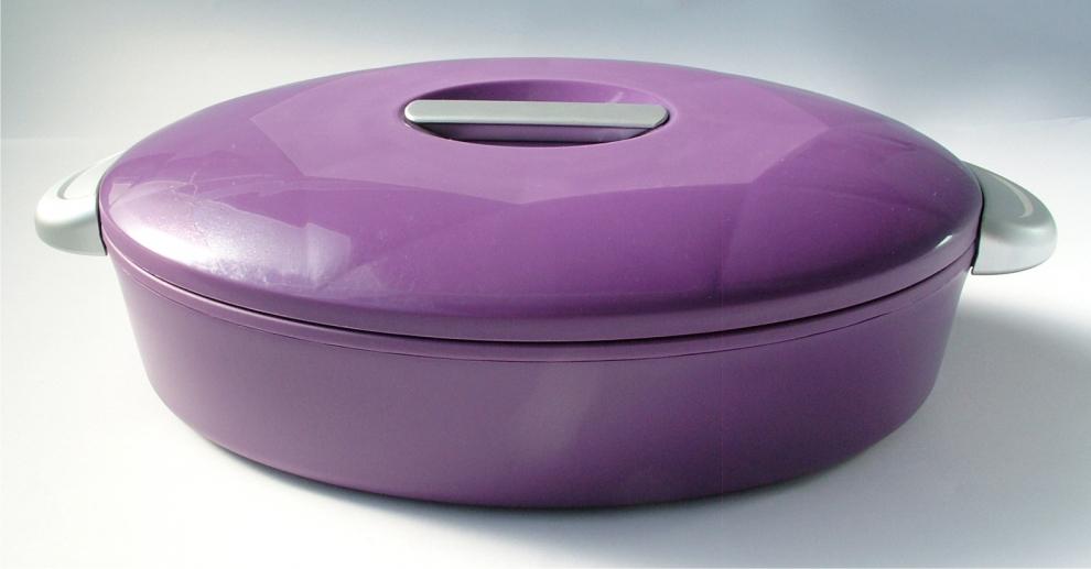 Enjoy porte plat isotherme ovale 3 l aubergine avec son for Porte isotherme interieur