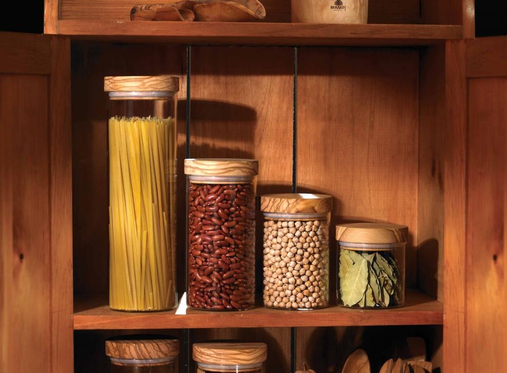 francis batt pot en verre 1 5 litre avec couvercle herm tique en olivier 10 cm h 31 cm. Black Bedroom Furniture Sets. Home Design Ideas