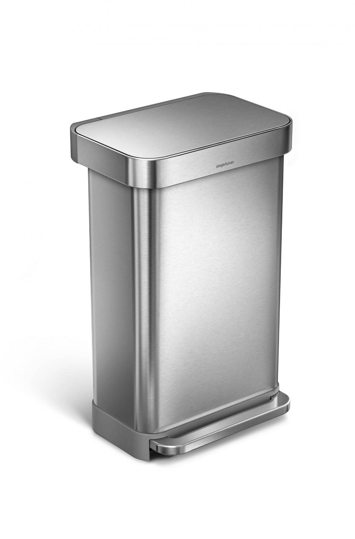 simple human poubelle 55l rectangulaire p dale avec r serve sac int gr e cw2023 cw2023. Black Bedroom Furniture Sets. Home Design Ideas