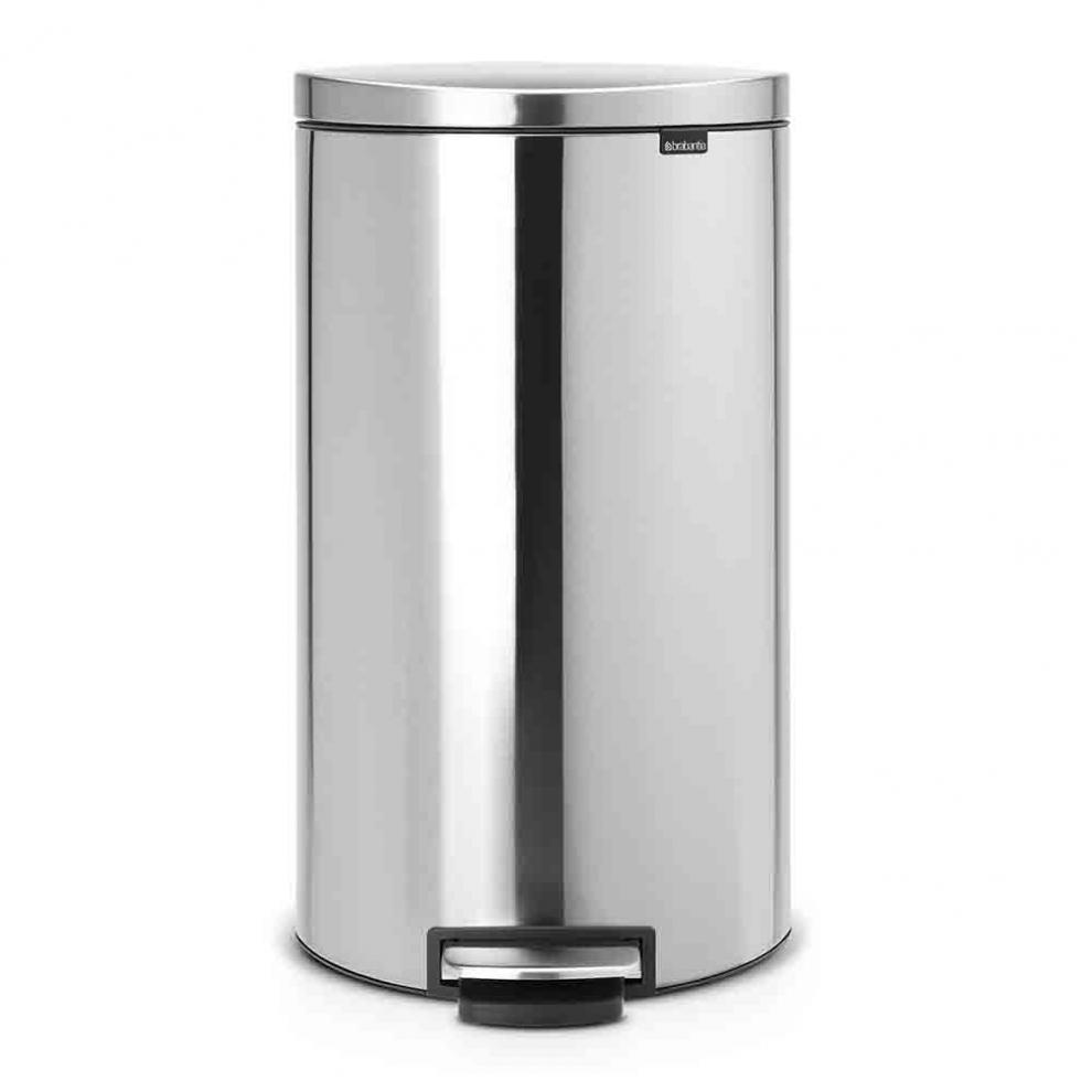brabantia poubelle p dale 39 silent 39 gain de place flatback 30 litres 48 20 07 48 20 07. Black Bedroom Furniture Sets. Home Design Ideas