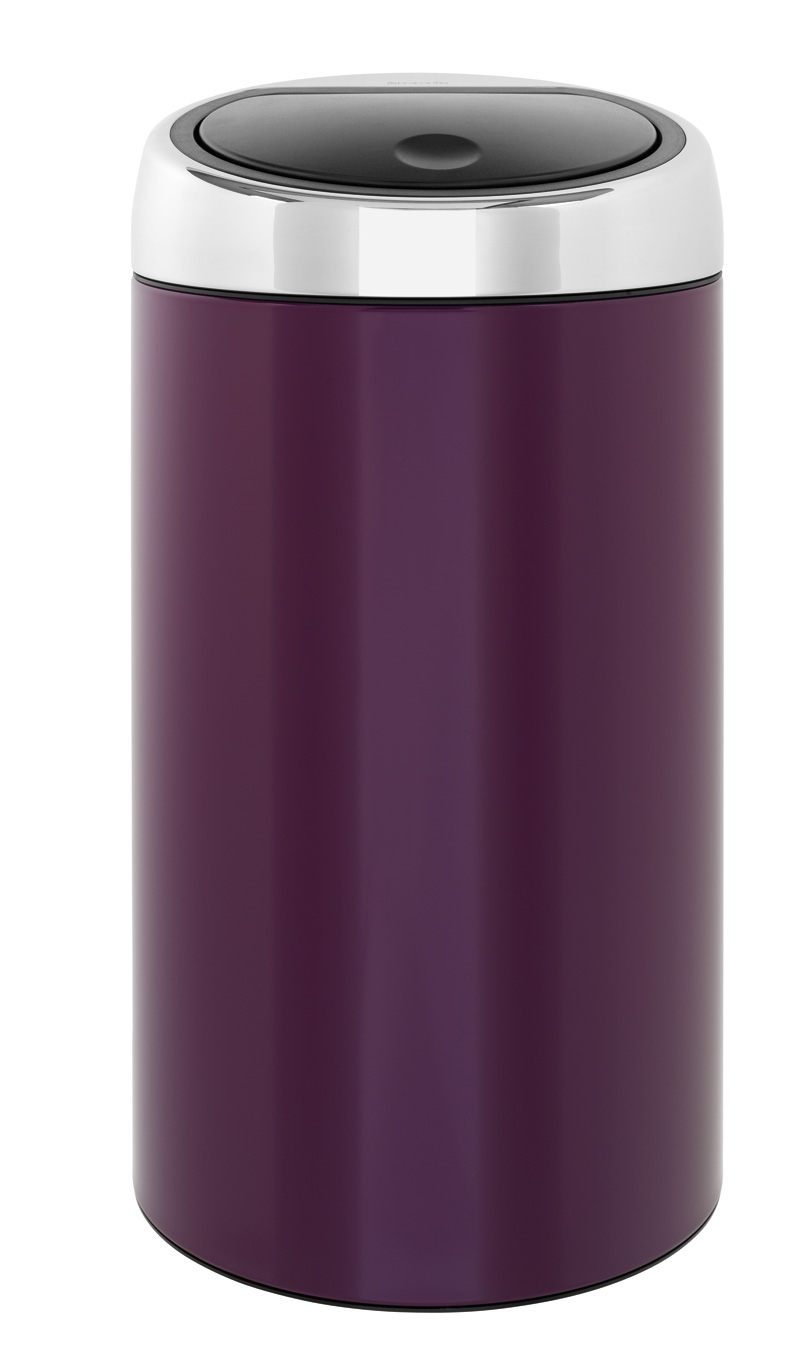 brabantia poubelle color your bin ronde 45 l violet purple 424465 424465 achetez au. Black Bedroom Furniture Sets. Home Design Ideas